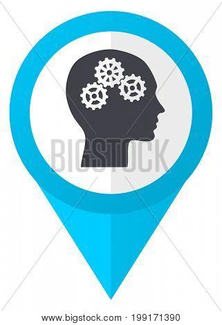 Head blue pointer icon