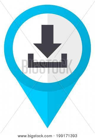 Download blue pointer icon