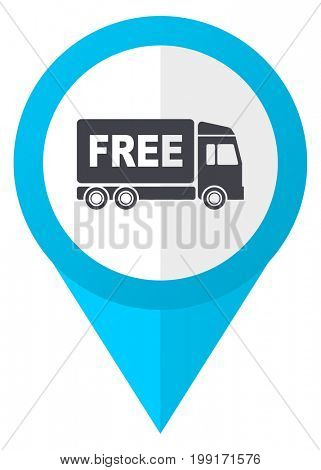 Free delivery blue pointer icon