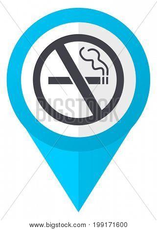 No smoking blue pointer icon