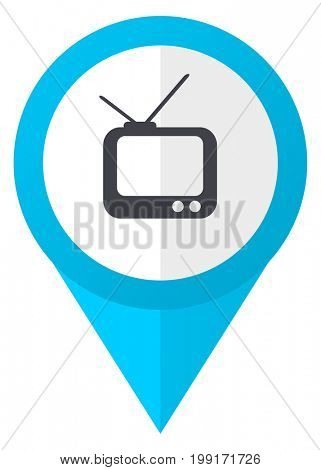 Tv blue pointer icon