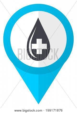 Blood blue pointer icon