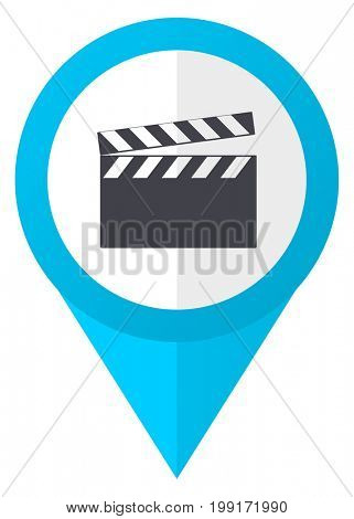Video blue pointer icon