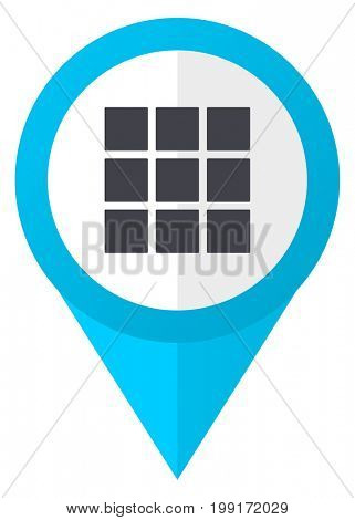 Thumbnails grid blue pointer icon