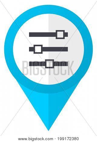 Slider blue pointer icon