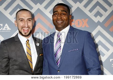 LOS ANGELES - AUG 8:  Cris Carter, Nick Wright at the FOX TCA Summer 2017 Party at the Soho House on August 8, 2017 in West Hollywood, CA
