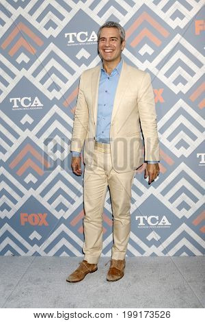 LOS ANGELES - AUG 8:  Andy Cohen at the FOX TCA Summer 2017 Party at the Soho House on August 8, 2017 in West Hollywood, CA