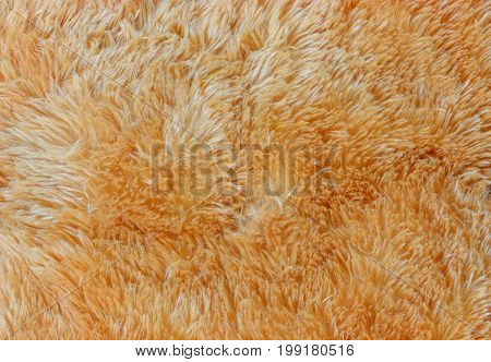 close up of artificial brown fur for background