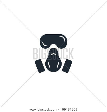 Respirator silhouette  icon. High quality black outline Logo for web site design and mobile apps. Vector illustration on a white background.