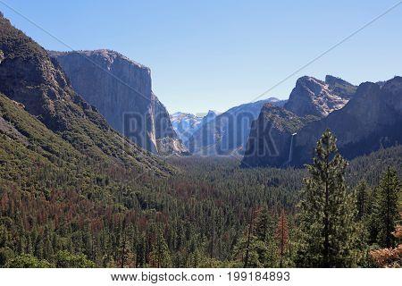 Tunnel View in Yosemite National Park. California. USA