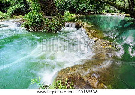Chet-Sao-Noi waterfall in Khao Yai National Park Saraburi province Thailand.
