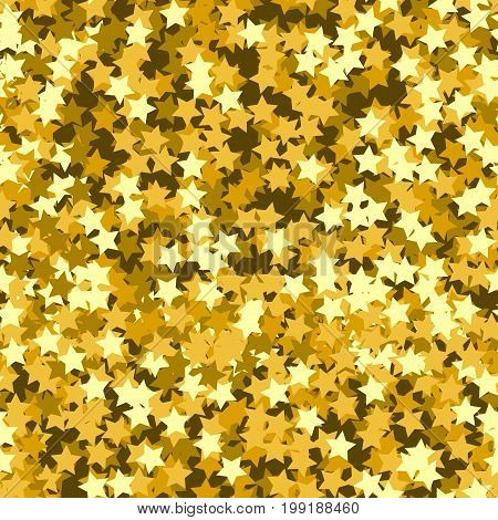 Gold star seamless pattern. Holiday background, seamless pattern with stars. Vector illustration.