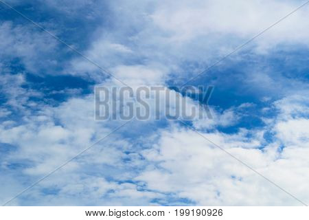 Background of blue sky and white clouds. Illustration for peace of mind.