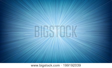 White Light Speed Line Burst Ray On Blue Background