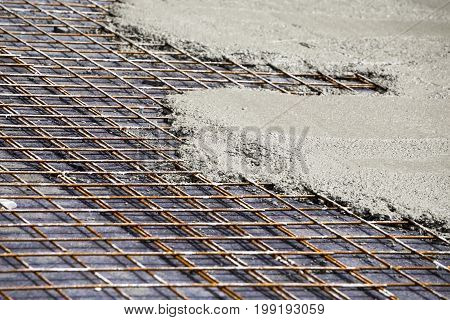 Rebar With Poured Concrete