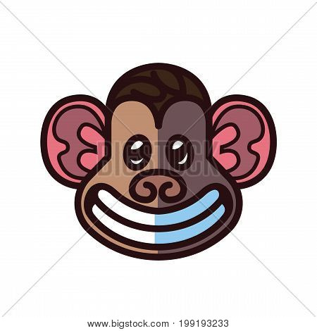 Monkey head logo template - vector illustration for mascot tattoo or t-shirt design