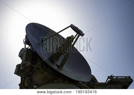 Siluete Of Radar Station