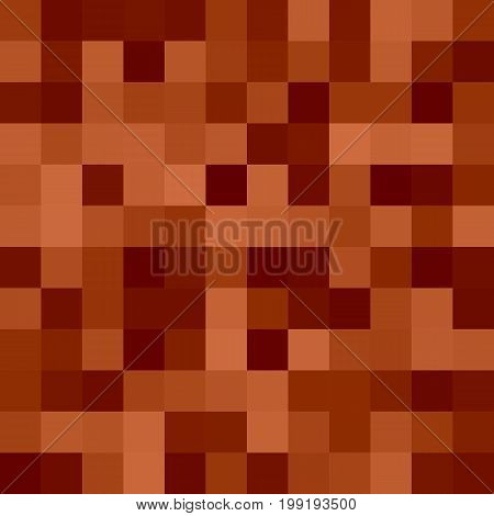 Geometrical abstract square mosaic background - vector design from squares in brown tones