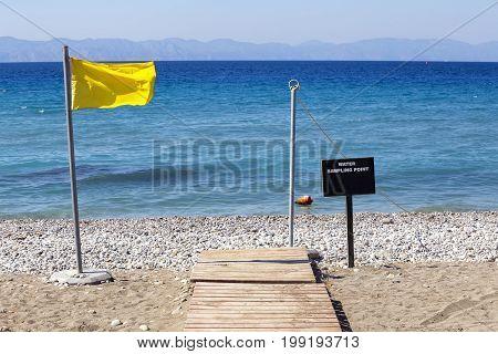 Water Sampling Point For Blue Flag Beach
