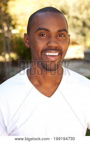 Portrait of a young African American man.