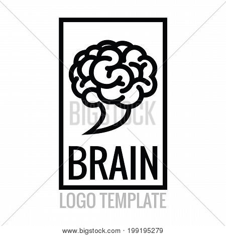 Brain Logo Template - Smart Cloud Abstract Vector Logo Isolated