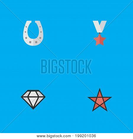 Elements Diamond, Metal, First And Other Synonyms Diamond, Metal And Award.  Vector Illustration Set Of Simple Awards Icons.