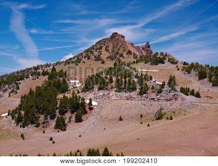 Mountain Landscape Crater Lake National Park Oregon United States