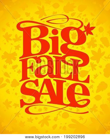 Big fall sale typography design