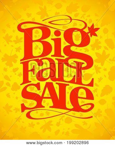 Big fall sale typography design