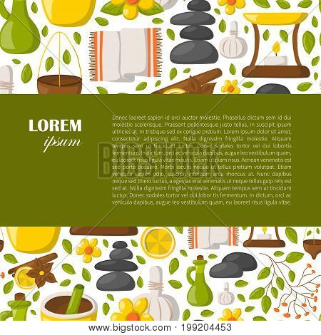 Vector Cartoon Ayurveda Background