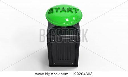 3D Rendering. The Start Button