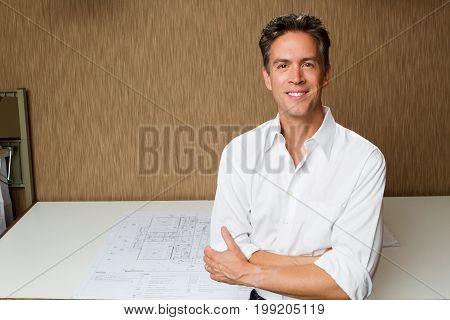 Portrait of a confident businessman at work.
