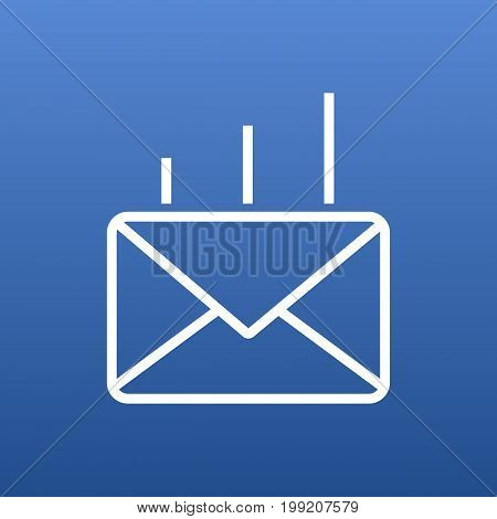 Vector Post Element In Trendy Style.  Isolated Mail Outline Symbol On Clean Background.