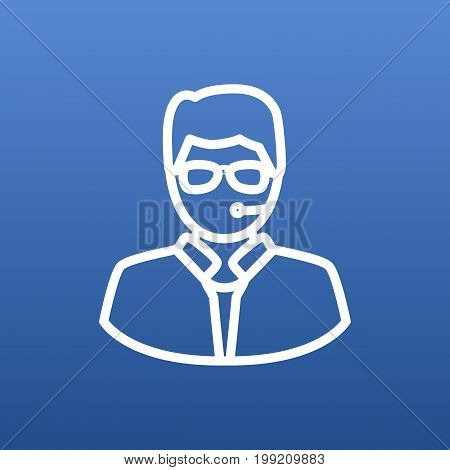 Vector Bodyguard Element In Trendy Style.  Isolated Security Outline Symbol On Clean Background.