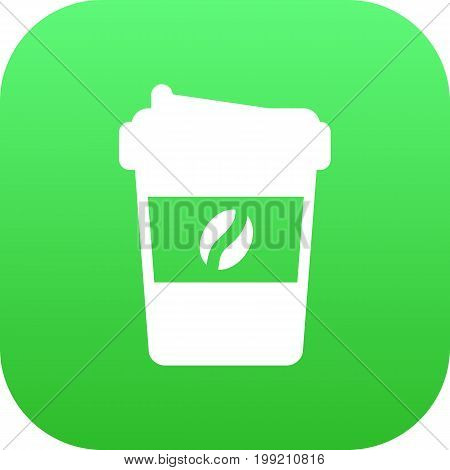 Vector Espresso Element In Trendy Style.  Isolated Cappuccino Icon Symbol On Clean Background.