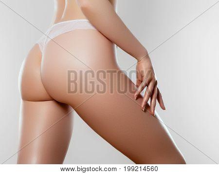 Beautiful Slim Woman's Body. Perfect Slim Toned Young Body
