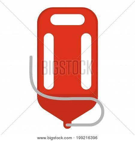 Vector illustration of red colored life saver isolated on white.