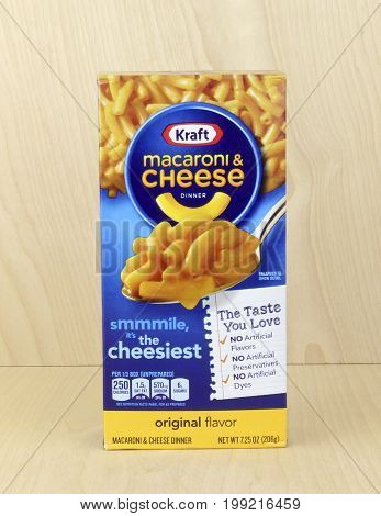 Spencer Wisconsin August 10 2016 Box of Kraft Macaroni & Cheese Kraft Foods Inc is an American based company founded in 2012