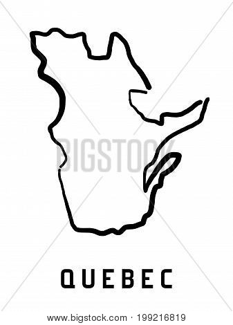 Quebec Map Outline