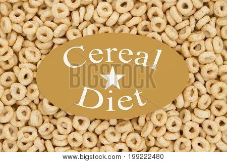 Losing weight on the cereal diet Oats cereal with a card and text Cereal Diet