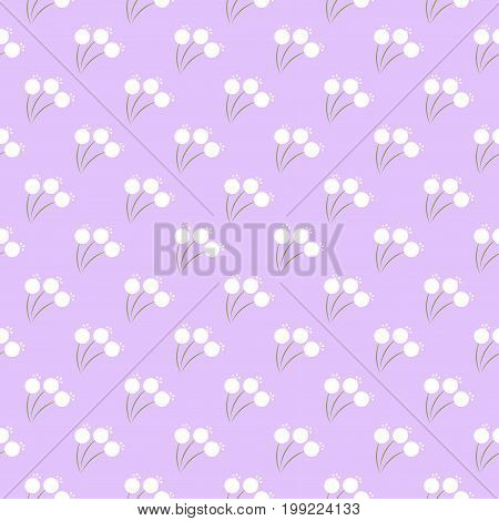 Seamless floral pattern with tiny flowers. Vector.