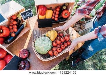 Farmer Selling Vegetables At Market