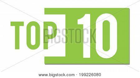 Top 10 text written over green background.