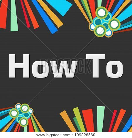How to text written over dark colorful background.