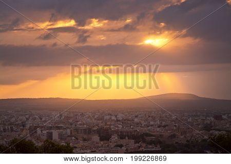 Beautiful Sunrise Over Palma