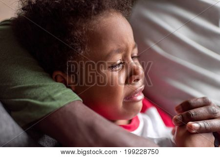 Little African Boy Crying