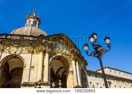 Shrine and Basilica of Loyola between the towns of Azpeitia and Azcoitia.