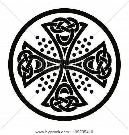 Celtic cross. National ornament isolated on white background.