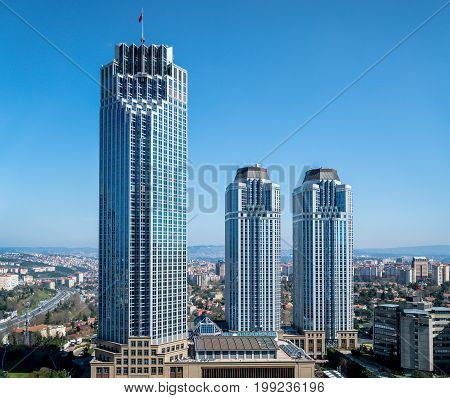 Istanbul Turkey - March 2017: Isbank headquarters at Levent Istanbul