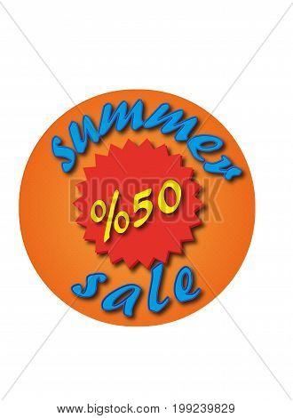 summer sale s %50 sign circular vector design